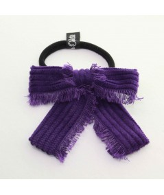 PY739 Purple ponytail holder hair elastic