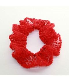 PY746 Red ponytail holder hair elastic scrunchie