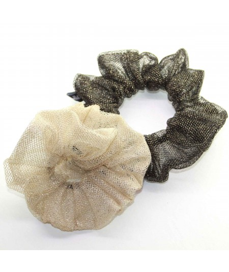 PY747 Light Gold and Dark Gold scrunchie for hair