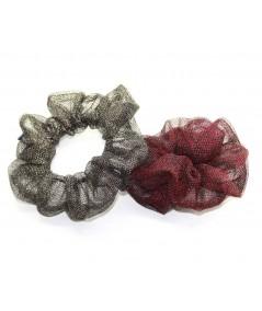 PY747 Dark Gold and Red Metallic scrunchie