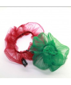 PY758 Rouge Kelly ponytail holder hair elastic scrunchie