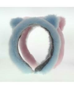 FFK2 pink blue earmuffs faux fur