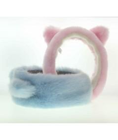 FFK2 Cat Ears Earmuffs Light Blue Pink