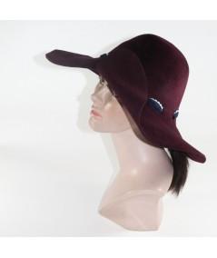HT682 Wine women's adjustable size winter hat