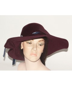 HT682 Wine womens adjustable size winter hat