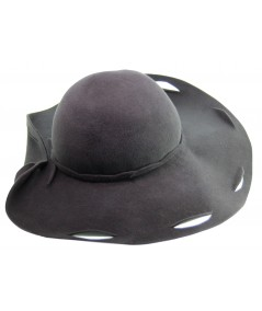 HT651 designer felt scalloped hat