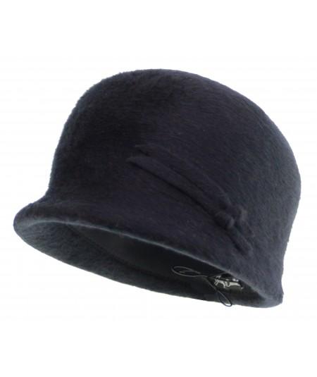 HT648 felt fuzzy dome cap hat