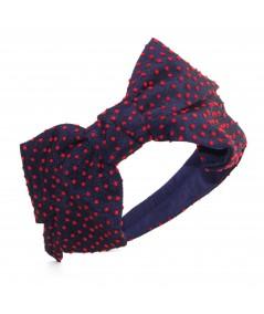 TL32 Black with Red Black headband polka dot