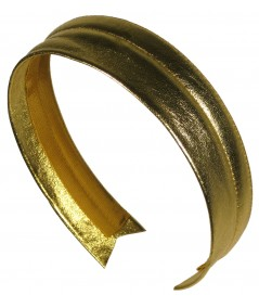 Gold Metallic Leather Headband
