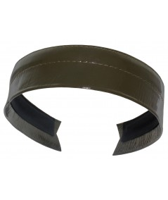 Olive Patent Leather Headband