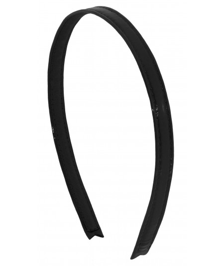 Patent Leather Headband - Black