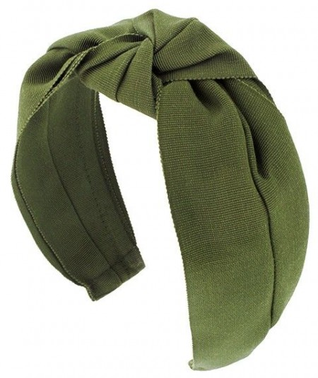 Olive Grosgrain Turban