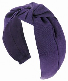 Purple Grosgrain Turban Headband