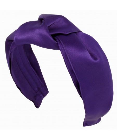 Purple Paramount Satin Turban