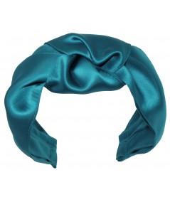 ST10X Turquoise Satin Turban