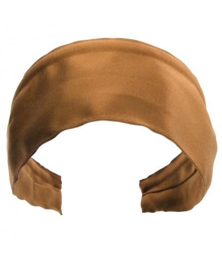 Basic Extra Wide Satin Headband - Bronze