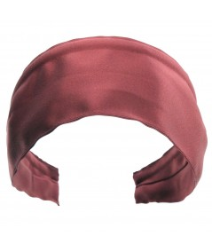 Basic Extra Wide Satin Headband - Alta Rosa