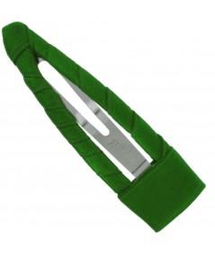 Satin Hair Clip - Emerald