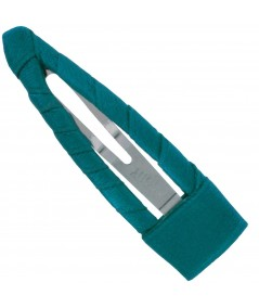 Satin Hair Clip - Turquoise