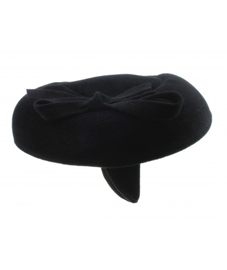 Black Velour Felt Headpiece on Headband