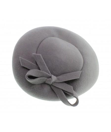 Light Grey Velour Felt Headpiece on Headband