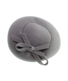 Light Grey Velour Felt Headpiece on Headband