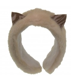 Couture Cat Earmuffs - faux fur with felt ears - Ivory