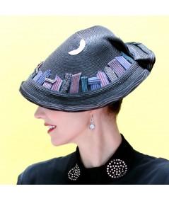 Lunar Melodies City Scape Hat