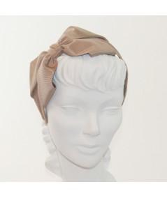 Pecan Bengaline Side Bow Headband Black