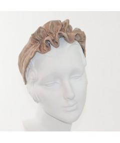 Pecan Ruffle Bengaline Headband for Women