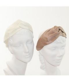 Ivory Pecan Bengaline Turbanista Headband