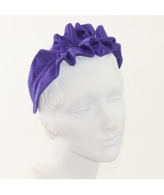 Purple Ruffle Bengaline Headband for Women
