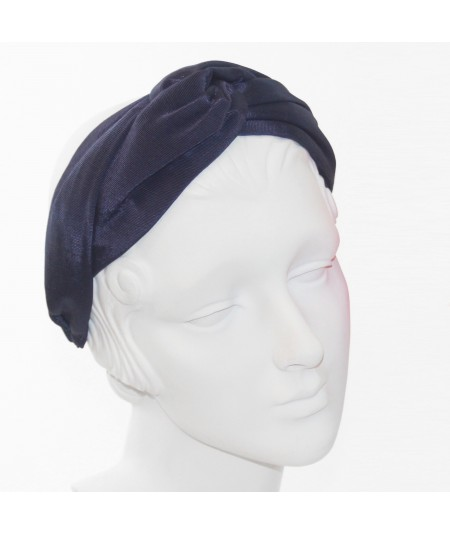 Navy Bengaline Turbanista Headband