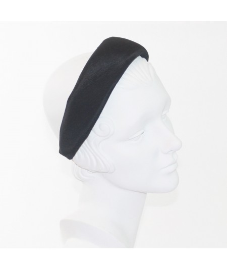 Black Bengaline Wide Padded Headband