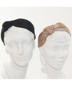 Black - Pecan Side Turban Headband