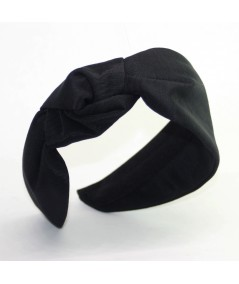 Black Side Turban Headband