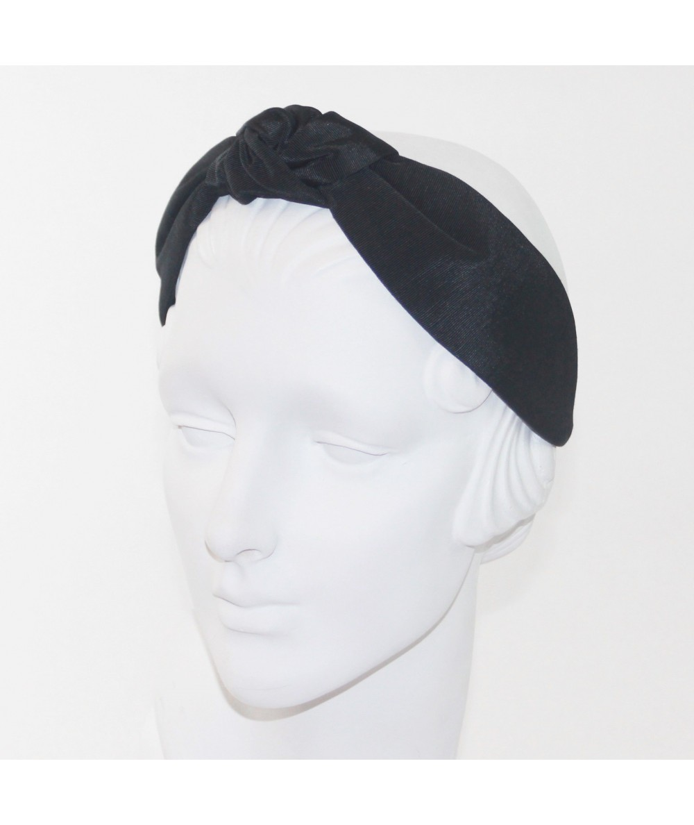 Black Bengaline Blair Center Turban Headband