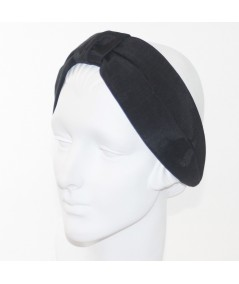 Black Bengaline Draper Turban Headband