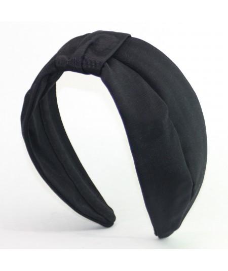Black Bengaline Draper Turban Headband