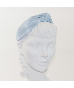 Pale Blue Bengaline Blair Center Turban Headband