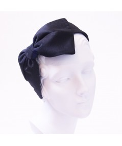 Black Bengaline Large Bow Headband