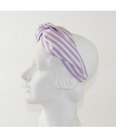 Lavender/White Cotton Stripe Turbanista