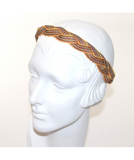 Arcade Color Stitch Straw Bradied Headband