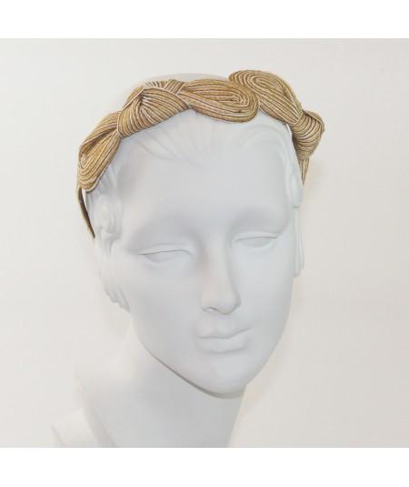 Honey Comb Straw Knot Millinery Headpiece