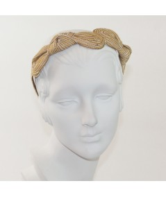 Honey Comb Straw Knot Millinery Headpiece