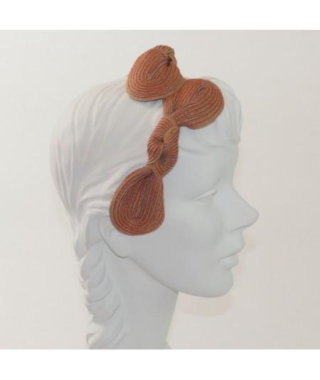 Sherbert Straw Knot Millinery Headpiece