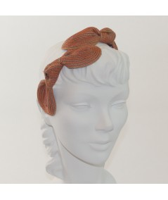 Sherbert Straw Knot Millinery Headpiece