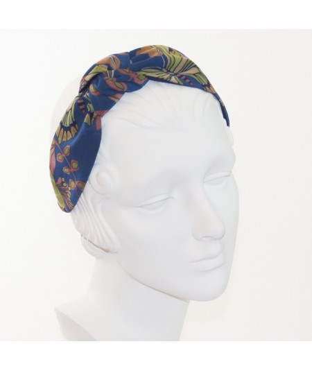 Silk Print Chiffon Side Turban Headband