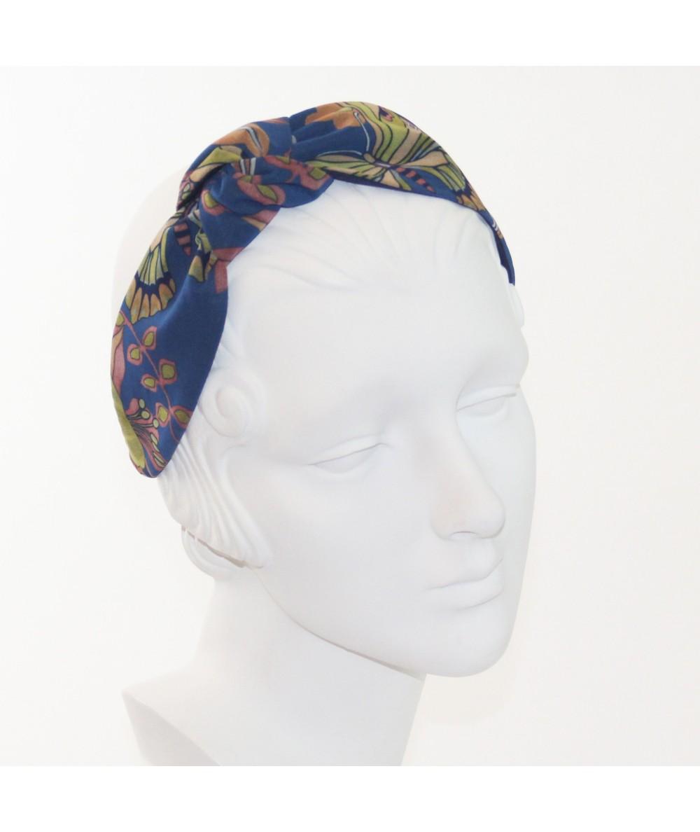 Silk Print Chiffon Side Turban Headband