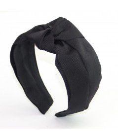 Black Classic Extra Wide Grosgrain Turban Headband